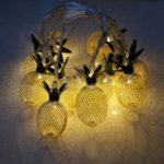 1.5M Pineapple String Lights 10-LED Fairy String Lights Battery Operated for Christmas Home Decoration – Gold
