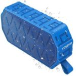 TOHAYIE BS-A8 IPX6 Outdoor Bluetooth Speaker with 1000mAh Battery Built-in Mic Support AUX-in – Blue