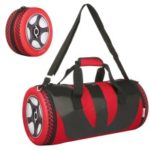 Unisex Wheel Shape Gym Duffel Bag Portable Storage Bag for Outdoor Sport Travel Vacation