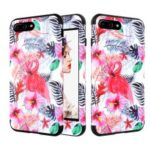 For iPhone 8 Plus / 7 Plus Detachable Shockproof PC + Silicone Cell Phone Cover – Flamingo