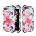 Detachable Shockproof PC + TPU Hybrid Phone Cover for iPhone 8/7 4.7 inch – Flamingo