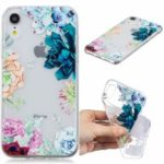 Pattern Printing Embossed TPU Soft Case for iPhone XR 6.1 inch – Colorful Flowers