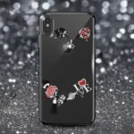 KAVARO Swarovski Rhinestone Electroplating PC Hard Case for iPhone XS Max 6.5 inch – Rose