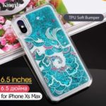 KAVARO Swarovski Rhinestone Quicksand PC + TPU Hybrid Case for iPhone XS Max 6.5 inch – Wave