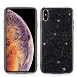 Glittery Sequins TPU Gel Casing Cover for iPhone XS Max 6.5 inch – Black