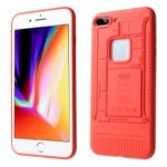 3D Mobile Mainboard Patten TPU Case for iPhone 8 Plus / 7 Plus – Red