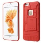 3D Mobile Mainboard Patten Soft TPU Case for iPhone 6s/6 – Red