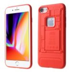 3D Mobile Mainboard Patten Soft TPU Case for iPhone 8/7 – Red