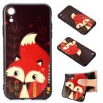 Pattern Printing Embossed TPU Case for iPhone XR 6.1 inch – Fox