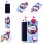3D Cute Doll Christmas Pattern TPU Case for iPhone XS/X 5.8 inch – Santa Claus and Balloon