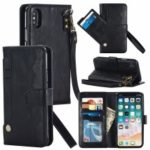 Magnetic Detachable Leather Wallet Mobile Case for iPhone XS / X 5.8 inch – Black