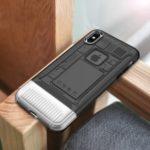 Ultra Thin Transparent Plastic + TPU Hybrid Phone Case for iPhone XS/X – Black