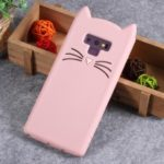 [3D Mustache Cat] Silicone Mobile Case for Samsung Galaxy Note9 N960 – Pink
