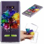 Embossment Scratch Resistant Clear Flexible TPU Cellphone Casing for Samsung Galaxy Note9 N960 – Colorful Tree