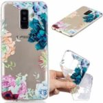 Pattern Printing Embossment Flexible TPU Case for Samsung Galaxy A6+ (2018) – Flowers Pattern