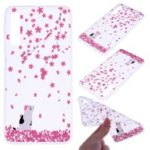 Pattern Printing TPU Case for Samsung Galaxy A7 (2018) – Flower and Cat