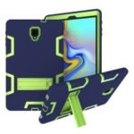 [Two-tone] Cool PC + Silicone Hybrid Kickstand Cover for Samsung Galaxy Tab A 10.5 (2018) T590 T595 – Green / Dark Blue