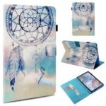 Pattern Printing Wallet Stand Smart Awakening Leather Case for Samsung Galaxy Tab S4 10.5 T830 T835 – Blue Dream Catcher