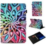 Pattern Printing Magnetic Wallet Leather Flip Cover for Samsung Galaxy Tab S4 10.5 T830 T835 – Flower with Hearts