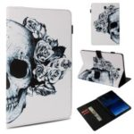Pattern Printing Stand Leather Flip Case for Samsung Galaxy Tab S4 10.5 T830 T835 – Sugar Skull