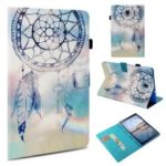 Leather Case for Samsung Galaxy Tab A 10.5 (2018) T590 T595 / Pattern Printing / Wallet / Stand / Smart Awakening – Blue Dream Catcher