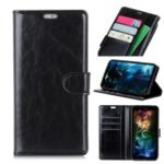 Crazy Horse Magnetic Stand Wallet Leather Mobile Phone Case for Samsung Galaxy A7 (2018) – Black