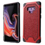 Glitter Powder Anti-drop PC TPU Hybrid Phone Case for Samsung Galaxy Note9 N960 – Red