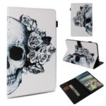 Pattern Printing Stand Leather Flip Protection Case for Samsung Galaxy Tab A 10.5 (2018) T590 T595 – Sugar Skull