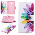 Pattern Printing Wallet Leather Flip Case for Samsung Galaxy J6+ / J6 Prime – Colorful Petals