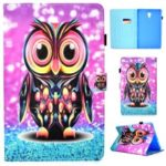 Pattern Printing PU Leather Case for Samsung Galaxy Tab A 10.5 (2018) T590 T595 – Owl Pattern