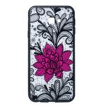 Embossed Flower Pattern TPU + PC Combo Mobile Phone Case for Samsung Galaxy J4+ – Big Red Flower