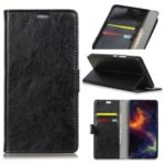 Crazy Horse Texture Wallet Stand PU Leather Case for Samsung Galaxy A7 (2018) – Black