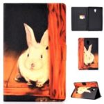Pattern Printing Leather Stand Case for Samsung Galaxy Tab A 10.5 (2018) T590 T595 – Cute Rabbit