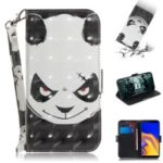 Light Spot Decor Patterned Wallet Stand PU Leather Phone Case for Samsung Galaxy J4+ – Angry Panda
