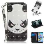 Light Spot Decor Patterned Wallet Stand PU Leather Phone Case for Samsung Galaxy J6+ – Angry Panda