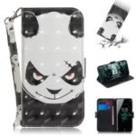 Light Spot Decor Patterned Wallet Stand PU Leather Phone Case for Sony Xperia XZ3 – Angry Panda