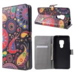 Pattern Printing PU Leather Magnetic Wallet Stand Case for Huawei Mate 20 – Abstract Pattern