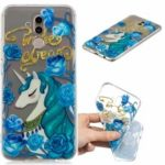 Embossment TPU Protection Pattern Printing Case for Huawei Mate 20 Lite – Elegant Unicorn