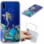 Pattern Printing Embossed TPU Case for Huawei nova 3i / P Smart Plus – Mermaid