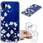 Pattern Printing Embossment TPU Protection Case for Huawei nova 3 – White Flowers