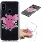 Pattern Printing Embossed TPU Case for Xiaomi Mi A2 Lite / Redmi 6 Pro – Elephant and Flower
