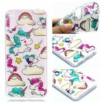 Pattern Printing TPU Case for Huawei Honor Play – Cloud and Unicorn