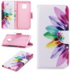 Pattern Printing PU Leather Wallet Flip Stand Phone Case for Huawei Mate 20 Pro – Petals Pattern