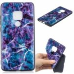 Pattern Printing Embossed TPU Case for Huawei Mate 20 – Marble Texture