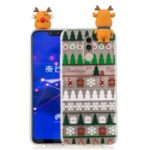 3D Cute Doll Christmas Pattern TPU Cover for Huawei Mate 20 Lite / Maimang 7 – Christmas Tree and Gift