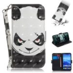 Light Spot Decor Patterned Wallet Stand PU Leather Phone Case for Huawei Mate 20 Lite – Angry Panda