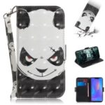 Light Spot Decor Patterned Wallet Stand PU Leather Phone Case for Huawei P Smart+ / nova 3i – Angry Panda