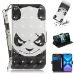 Light Spot Decor Patterned Wallet Stand PU Leather Phone Case for Huawei Honor 8X – Angry Panda