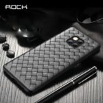 ROCK Woven Pattern Heat Dissipation TPU Mobile Casing for Huawei Mate 20 Pro – Black