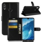For Huawei Honor 8X Max Case Litchi Grain Leather Case (Stand and Wallet) – Black